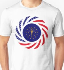 Indiana Murican Patriot Flag Series Unisex T-Shirt