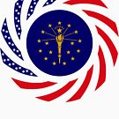 Indiana Murican Patriot Flag Series by Carbon-Fibre Media