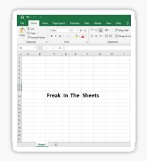 Freak in the Sheets Sticker
