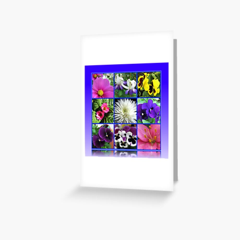 Colours of Summer Floral Collage Grußkarte