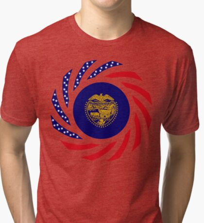 Oregon Murican Patriot Flag Series Tri-blend T-Shirt