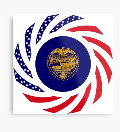 Oregon Murican Patriot Flag Series Metal Print