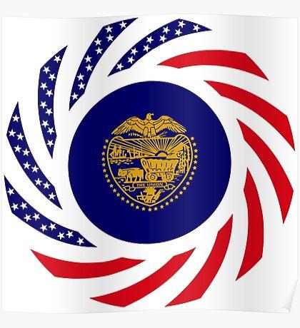 Oregon Murican Patriot Flag Series Poster