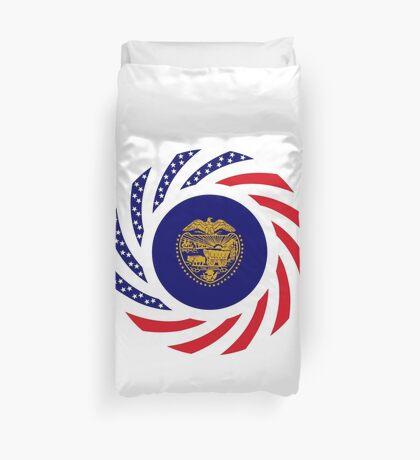 Oregon Murican Patriot Flag Series Duvet Cover