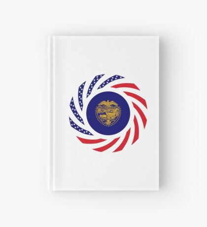Oregon Murican Patriot Flag Series Hardcover Journal