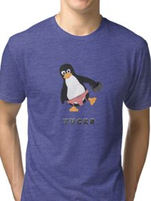 Tucks the penguin Tri-blend T-Shirt