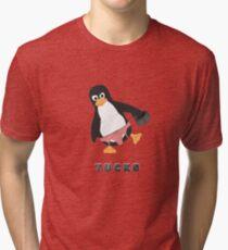 Tucks the penguin Tri-blend T-Shirt
