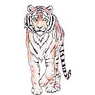 Tiger Pattern Watercolor by wanderinglaur