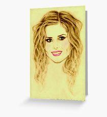 Cheryl Cole Greeting Card