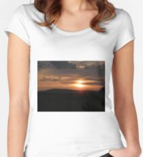 Donegal sunset Women's Fitted Scoop T-Shirt