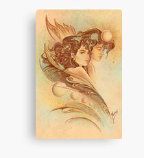 """""""THE GEMINI"""" - Protective Angel for Zodiac Sign Canvas Print"""