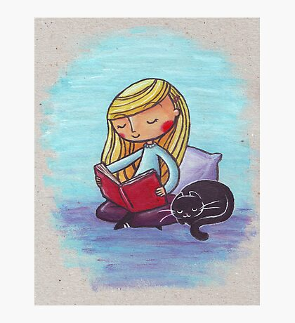 Peaceful Reading Photographic Print