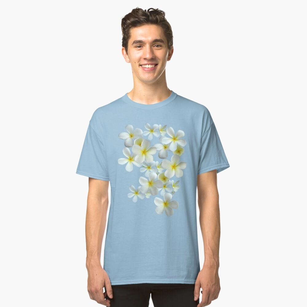 Frangipani - Weiß und Gelb Classic T-Shirt