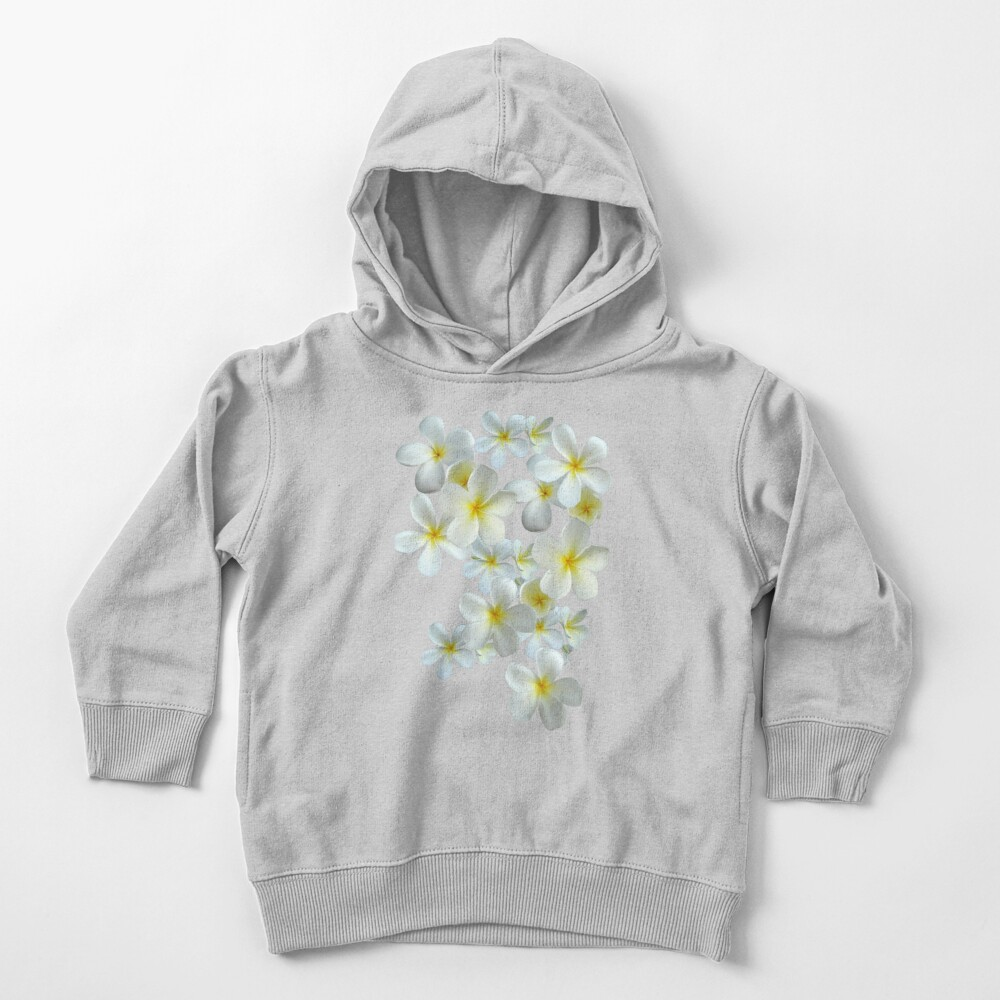 Frangipani - Weiß und Gelb Kleinkind Hoodie