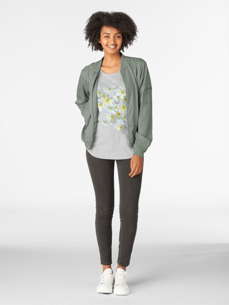 Alternative Ansicht von Frangipani - Weiß und Gelb Premium Rundhals-Shirt