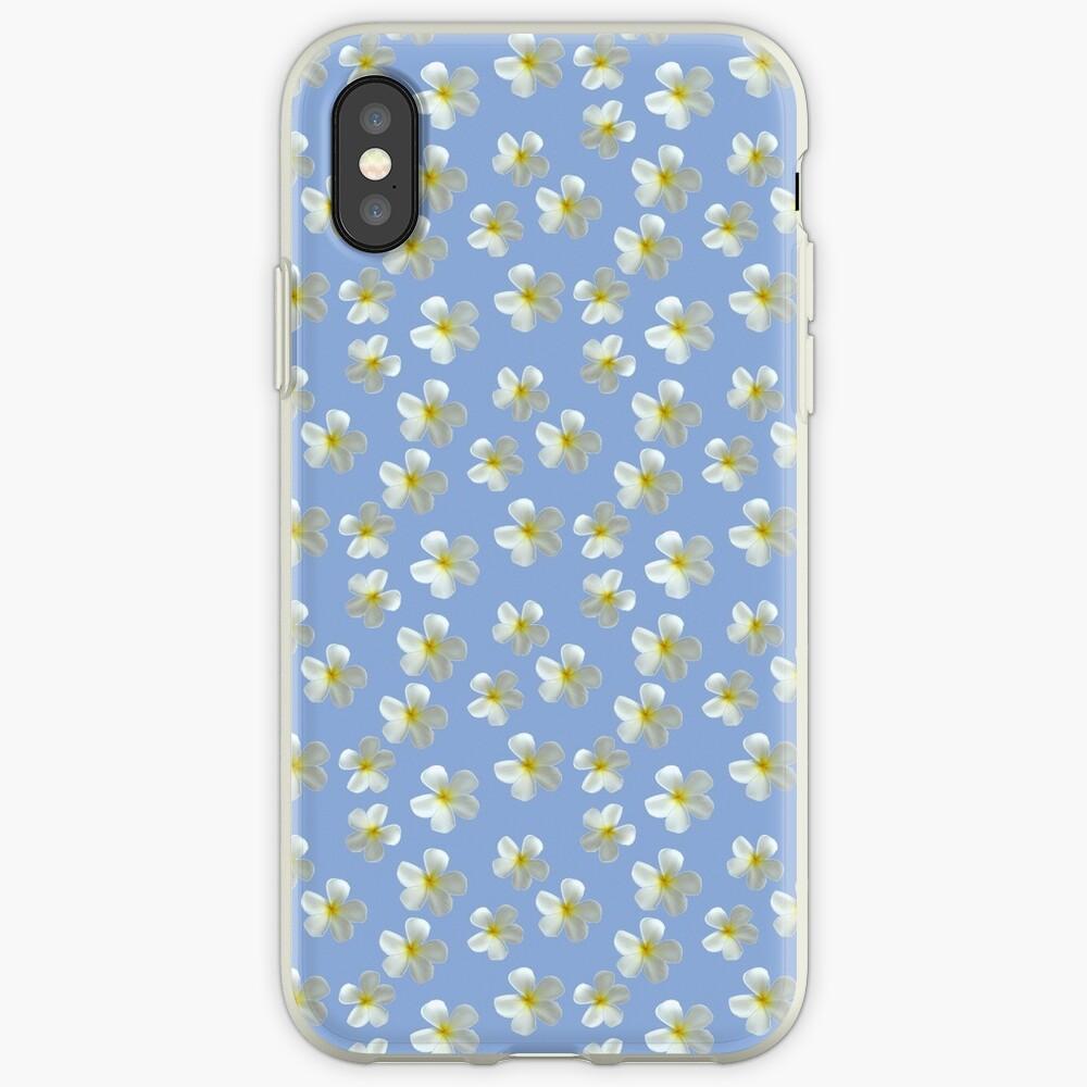 Frangipani - Weiß und Gelb iPhone-Hülle & Cover