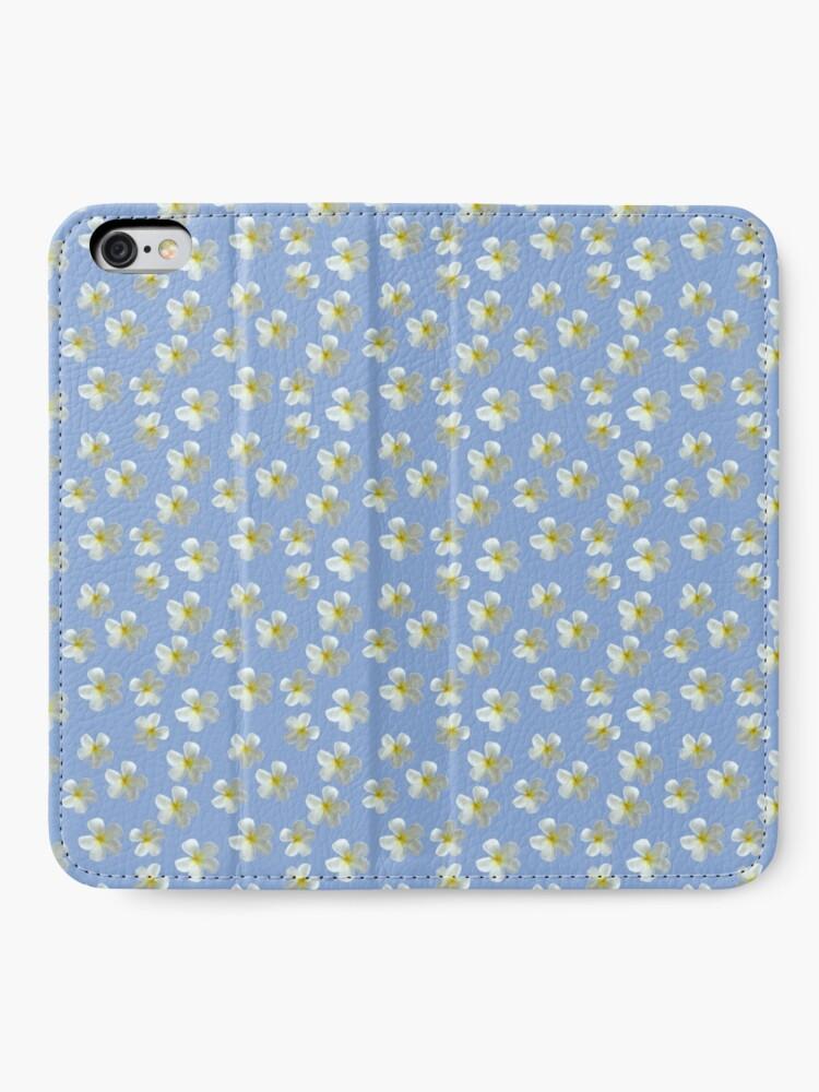 Alternative Ansicht von Frangipani - Weiß und Gelb iPhone Flip-Case