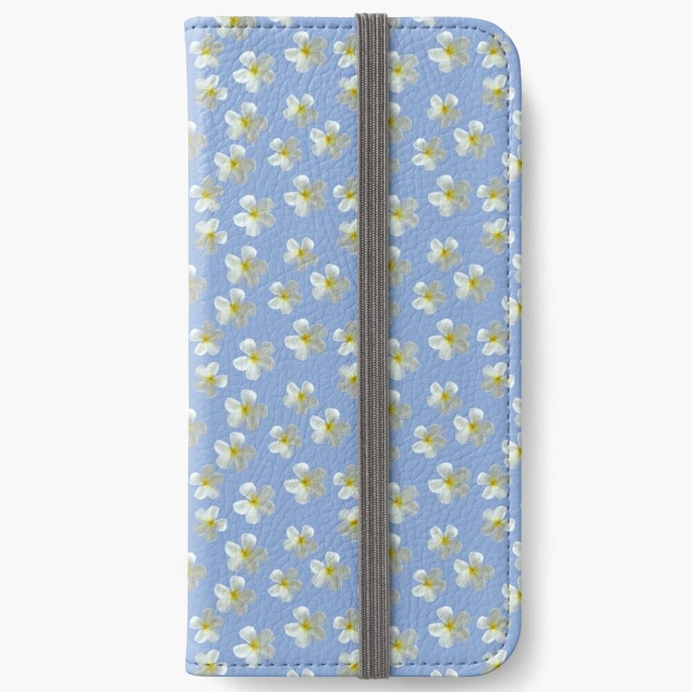Frangipani - Weiß und Gelb iPhone Flip-Case