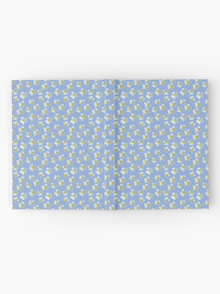 Alternative Ansicht von Frangipani - Weiß und Gelb Notizbuch