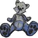 Cute Blue Teddy Bear by ShaplandArt