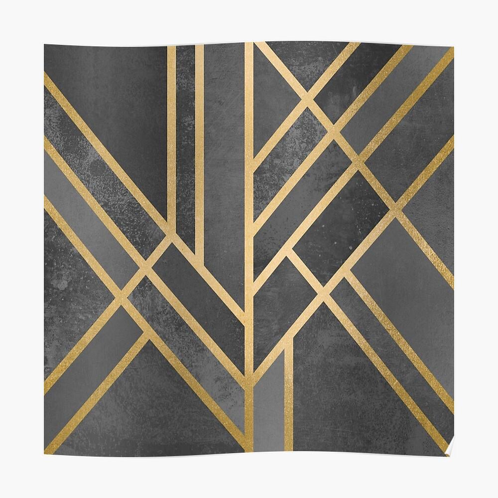Art Deco Geometrie 1 Poster