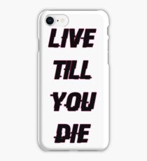 Queens of The Stone age - In The Fade - Live Till You Die iPhone Case/Skin