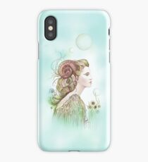"""THE ARIES"" - Protective Angel for Zodiac Sign iPhone Case/Skin"