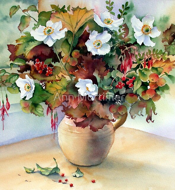 Autumn Jug by Ann Mortimer