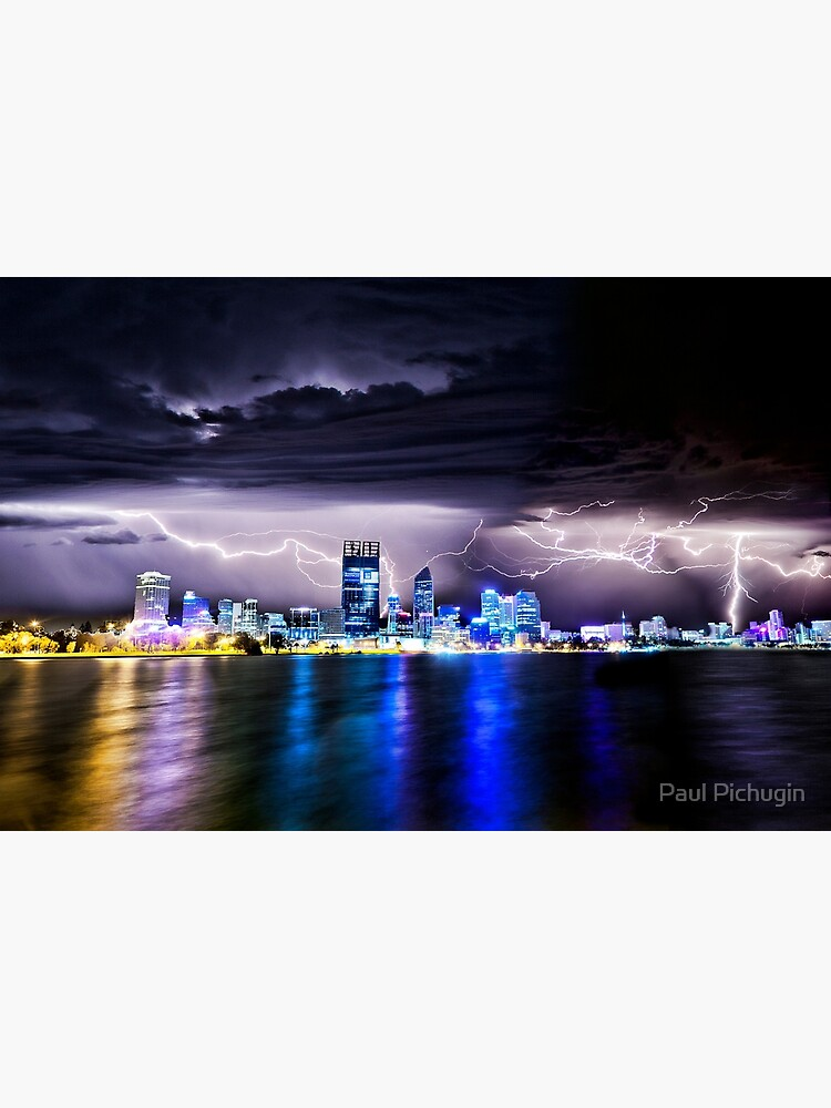 Perth Lightning Storm by paulmp