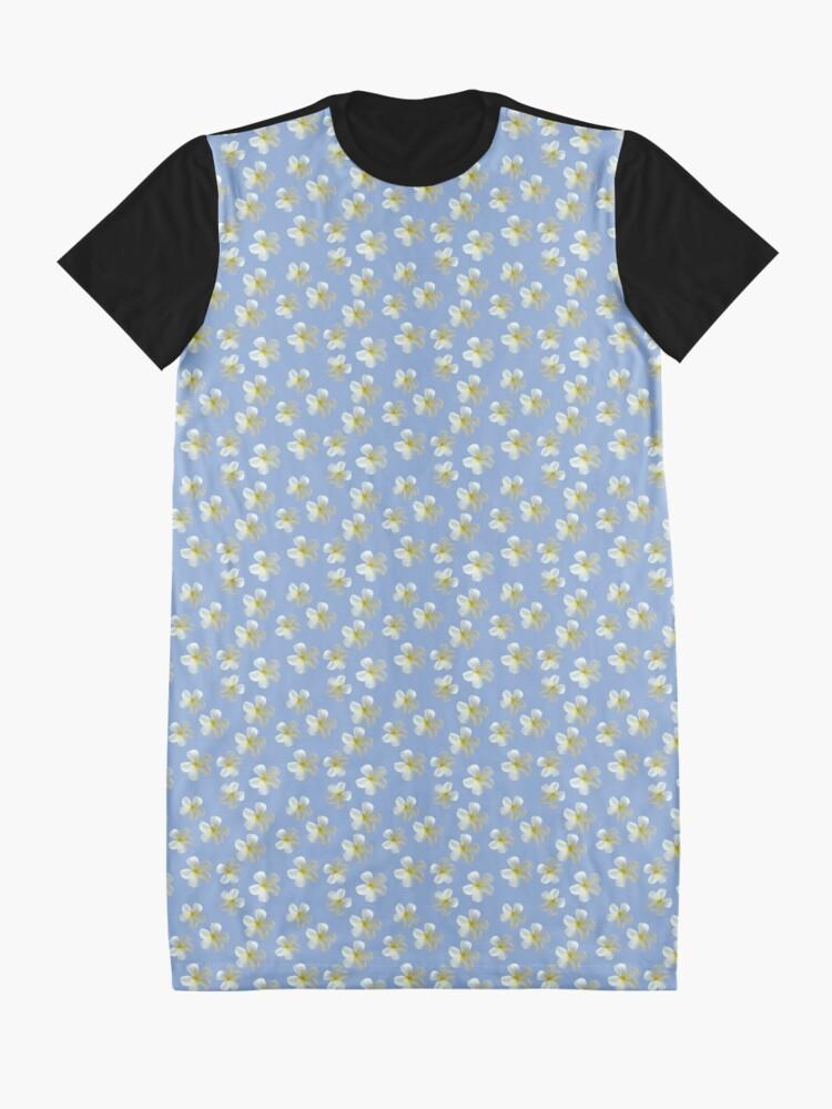 Alternative Ansicht von Frangipani - Weiß und Gelb T-Shirt Kleid