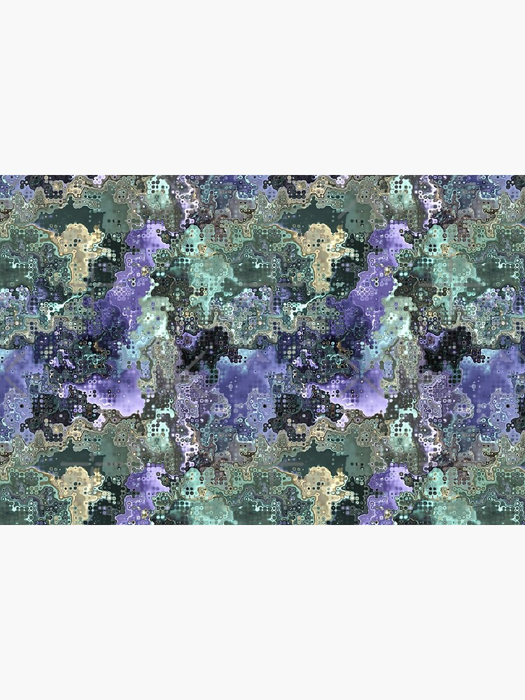 Purple Gold Green Abstract Pattern by perkinsdesigns