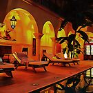 Riad At Night In Marrakesh by Dorothy Berry-Lound