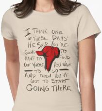 The Catcher in the Rye - Holden's Red Hunting Cap Womens Fitted T-Shirt