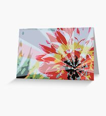 A Playful Flower Greeting Card
