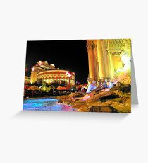 Las Vegas Caesars Palace... Greeting Card