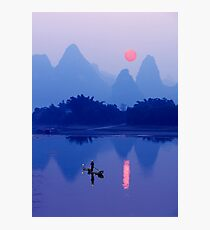 LI RIVER SUNSET - CHINA Photographic Print