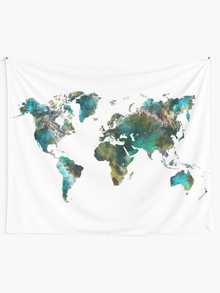 Alternate view of World Map tree #worldmap #map Wall Tapestry