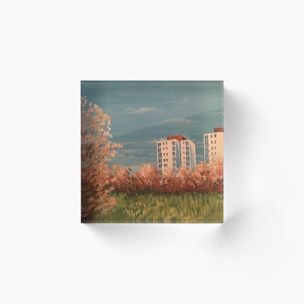 Hounslow Heath in Early Springtime Acrylic Block