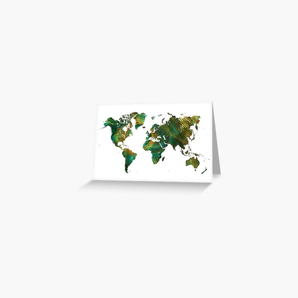 Weltkarte #worldmap #map Grußkarte