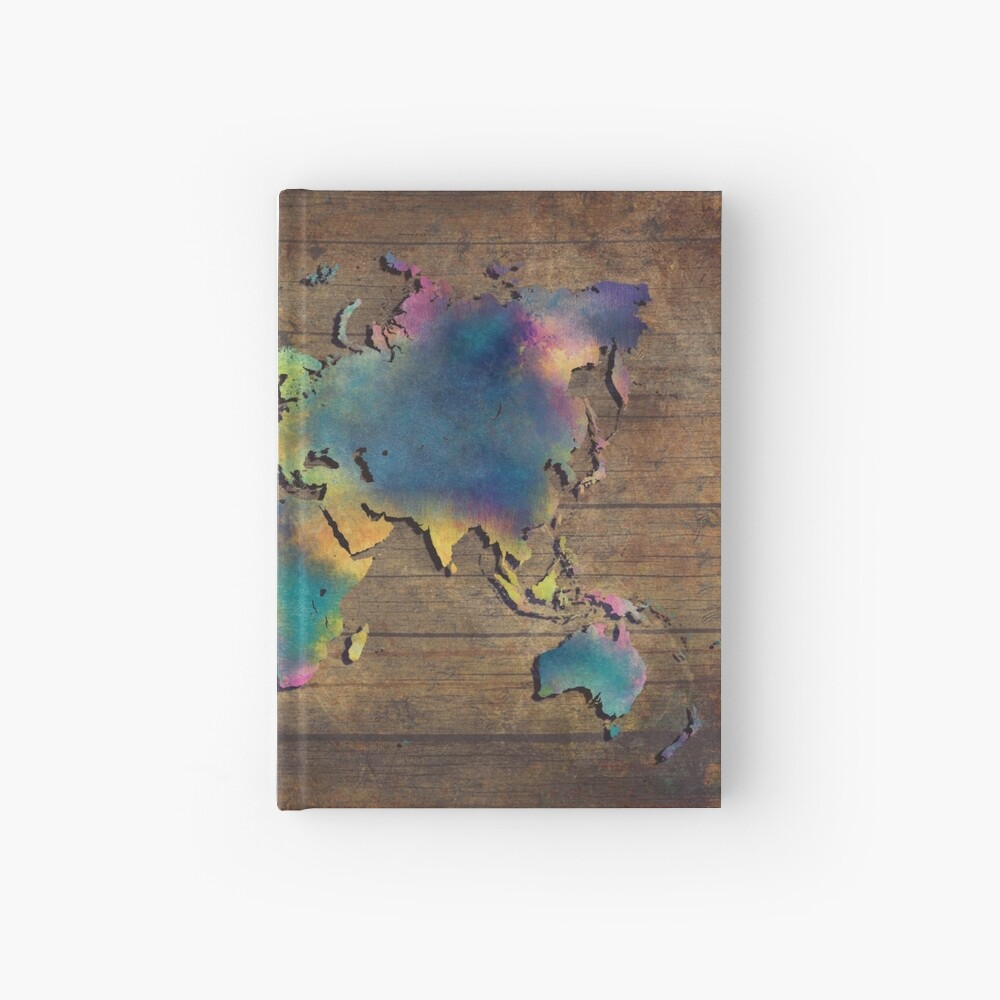 Weltkarte Holz #worldmap #map Notizbuch