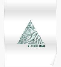 Mount Elbert Topo Poster