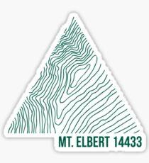Mount Elbert Topo Sticker