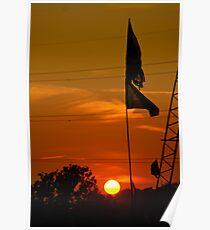 Glastonbury sunset Poster