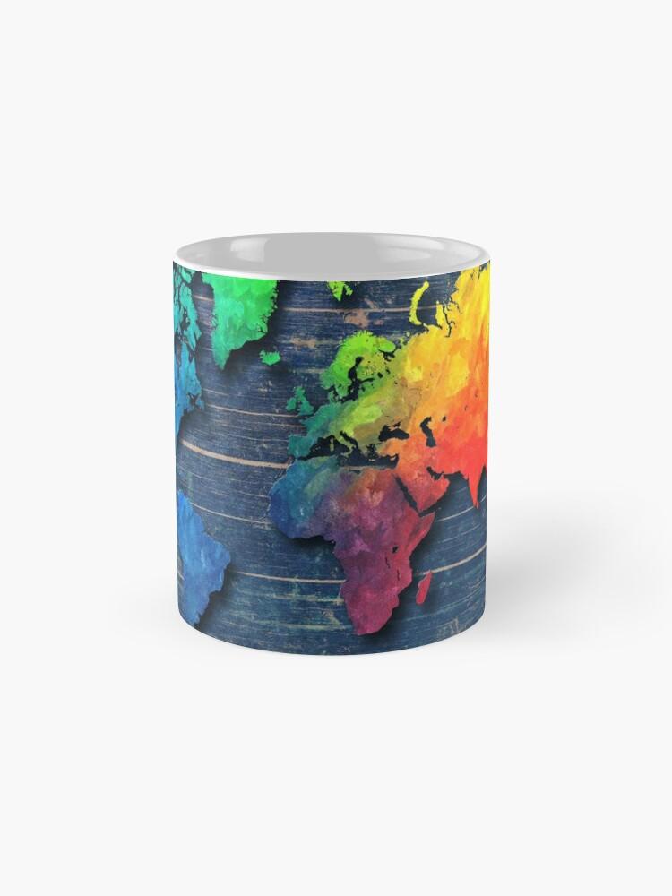 Alternative Ansicht von Weltkarte speziell 8 Tasse
