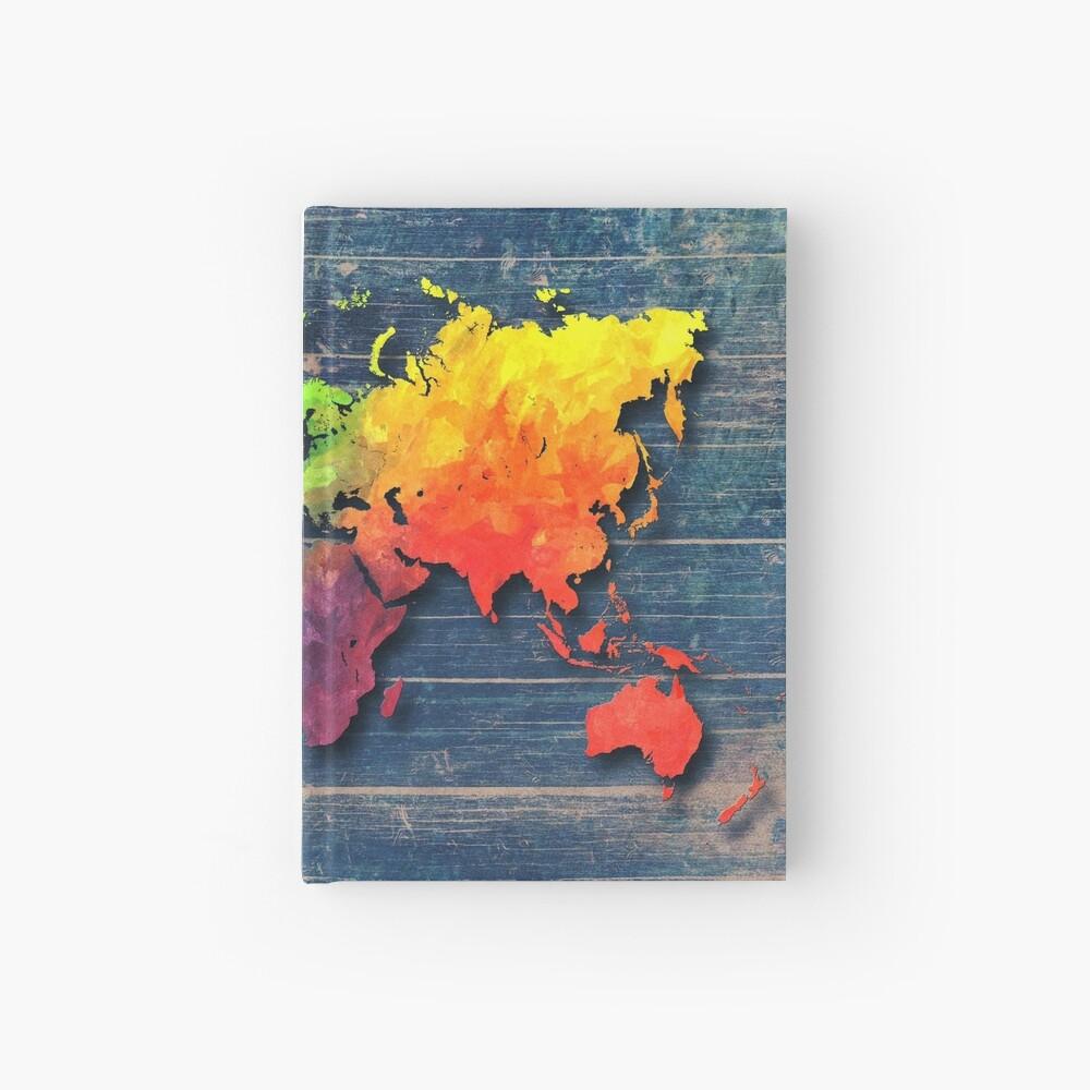 Weltkarte speziell 8 Notizbuch