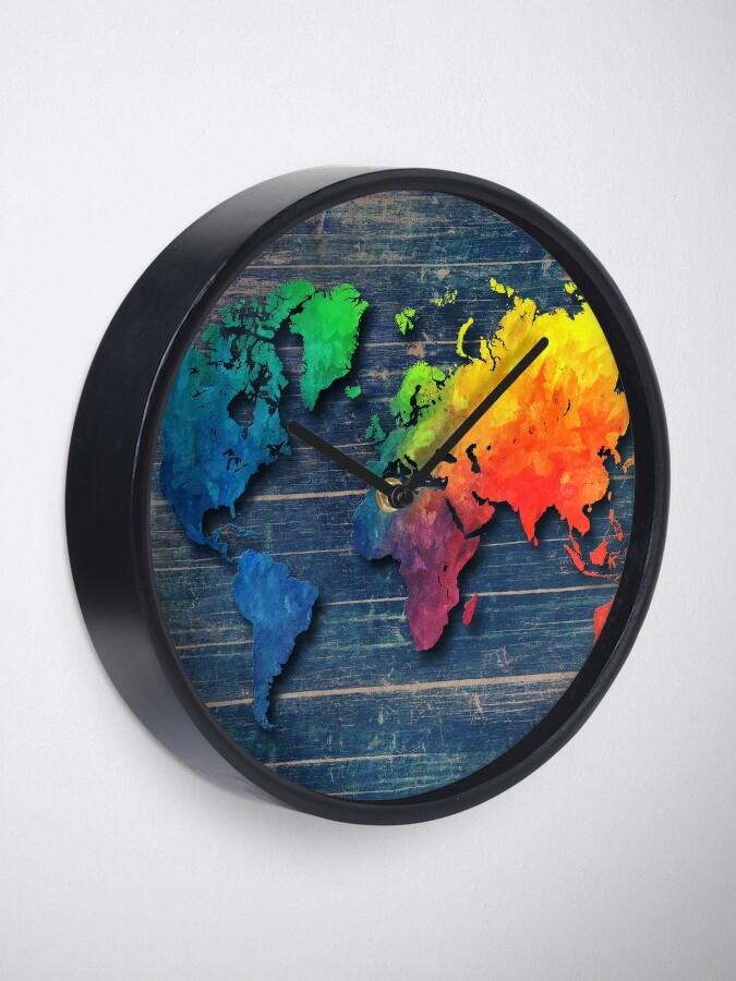 Alternative Ansicht von Weltkarte speziell 8 Uhr