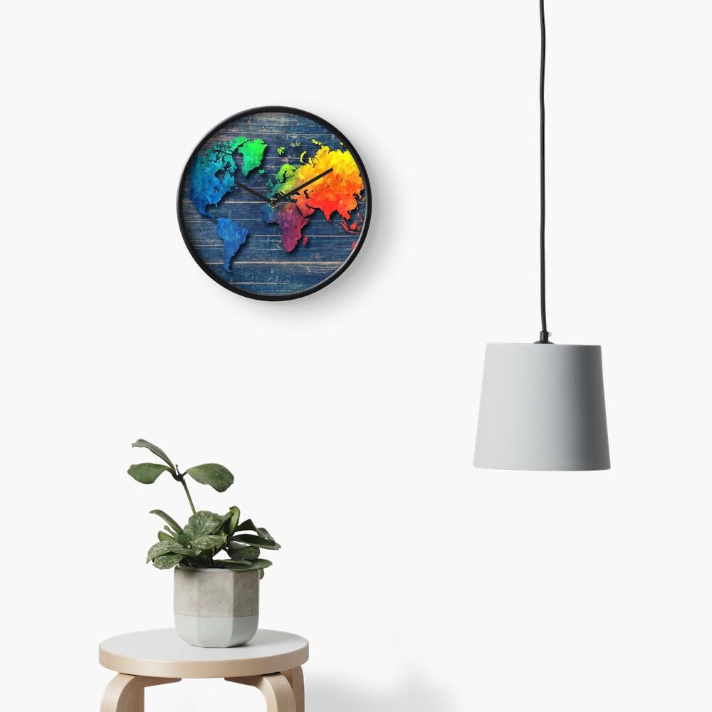 Weltkarte speziell 8 Uhr