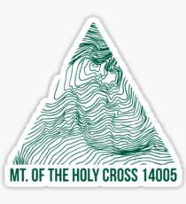 Mount of the Holy Cross Topo Sticker