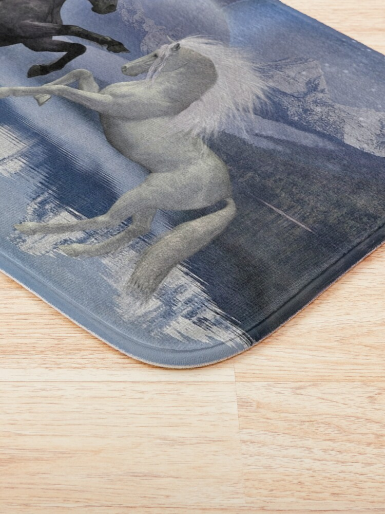 Alternate view of Horses and Moon Bath Mat