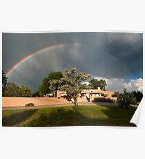 Santa Fe Rainbow Poster